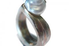 Perlenring-Mokume-Gane